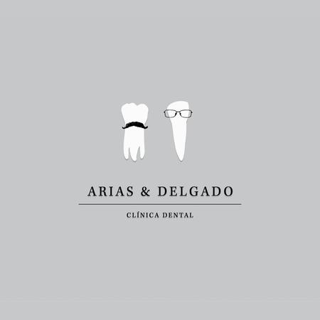 arias & delgado funny tooth dental logo