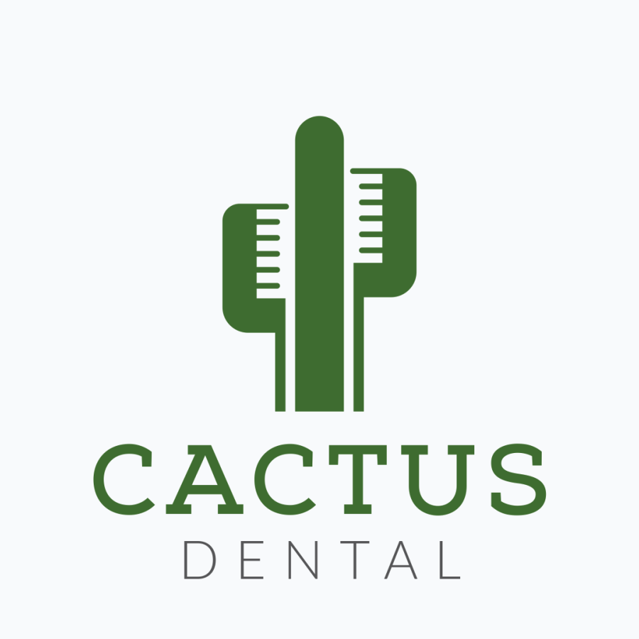 cactus tooth brush dental logo