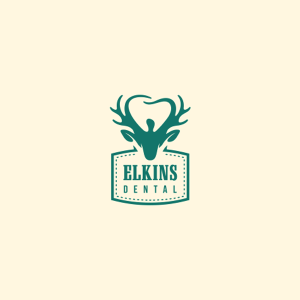 Elkins deer dental logo