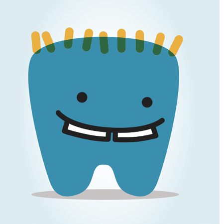 cute children's dentist online logo
