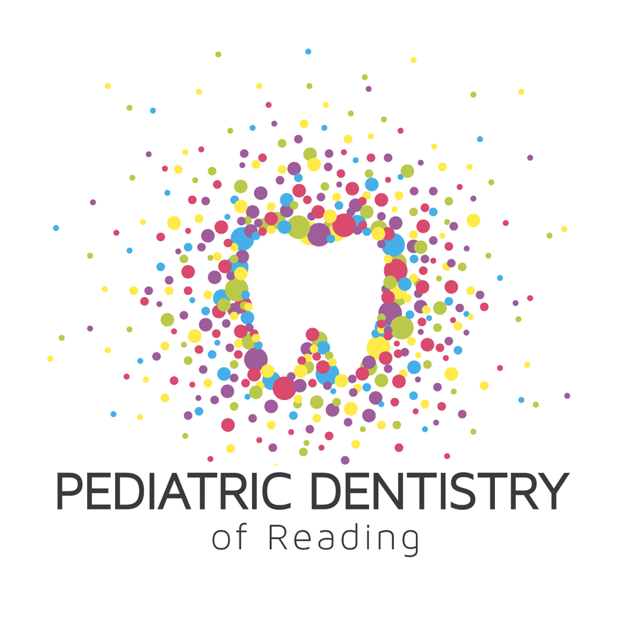 pediatric dentist logo with tooth and circles