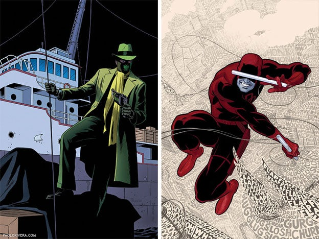 comic book covers green hornet, daredevil