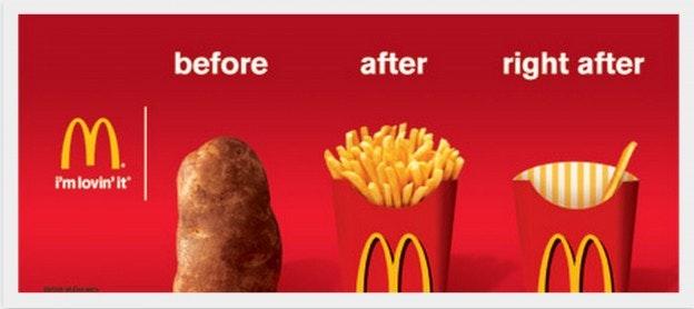 McDonald's logo billboard