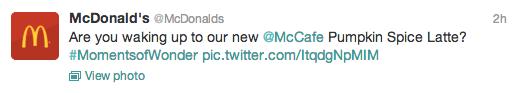 McDonald's logo tweet