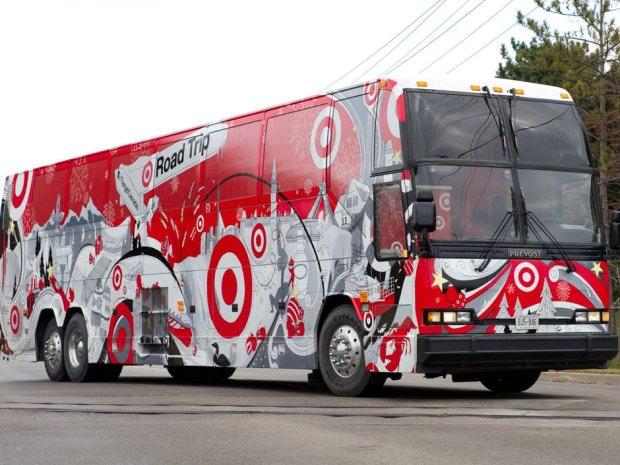 Target logo bus