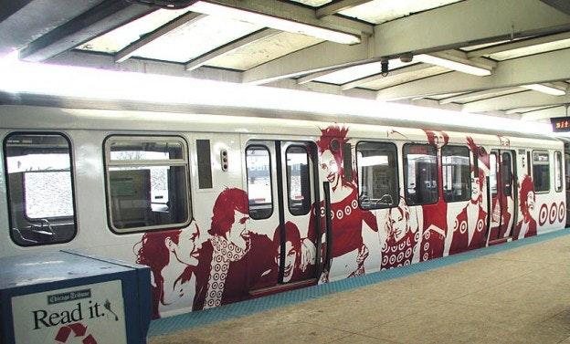 Target logo train wrap