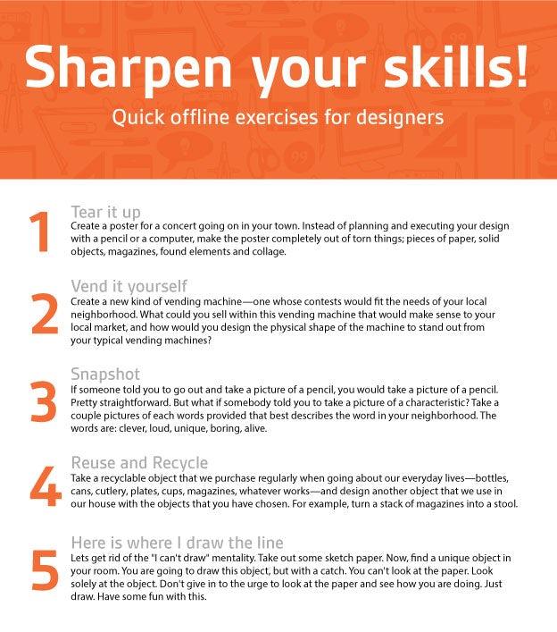 Offline exercises for designers