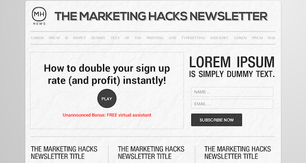 Marketing Hacks blog