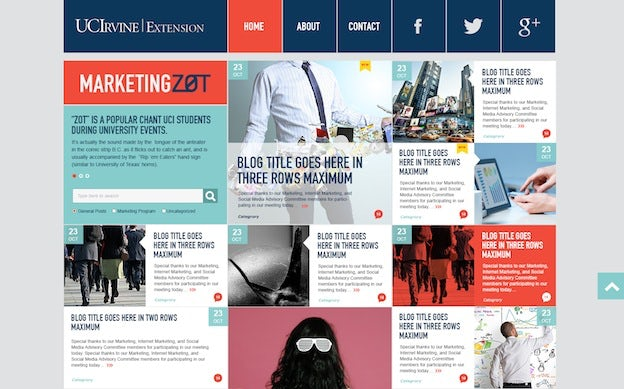 Marketing Zot blog