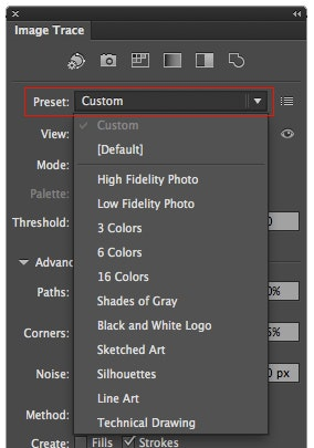 how to use image trace