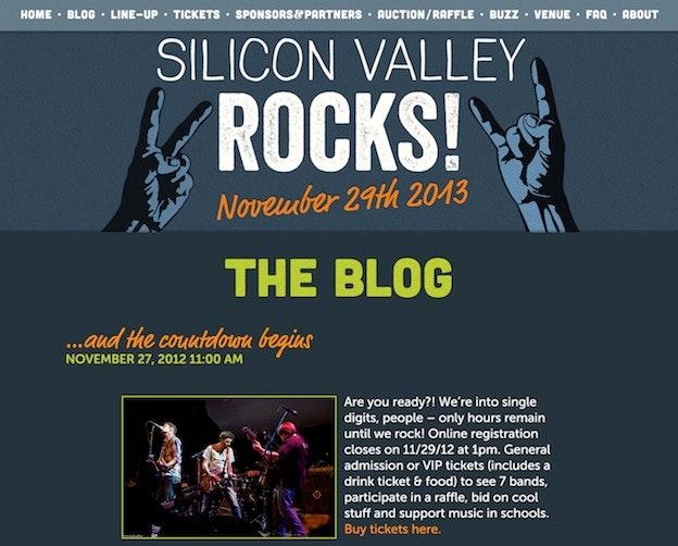 blog design - Silicon Valley Rocks