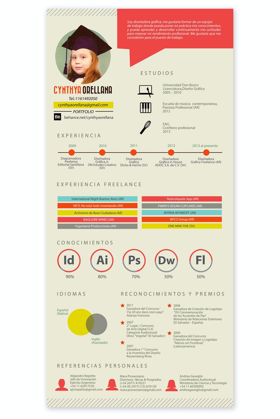 retro resume design