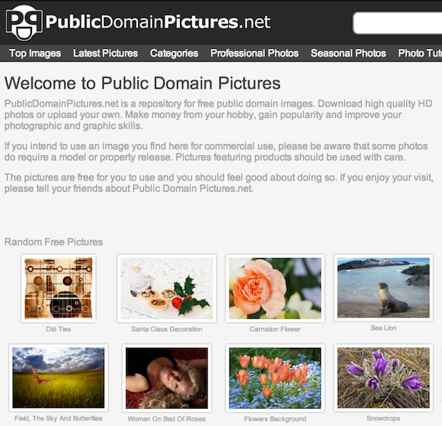 free public domain images websites publicdomainpictures.net