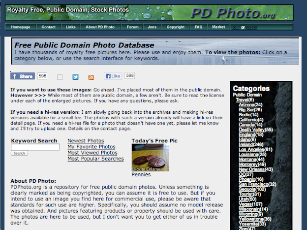 free public domain images websites PDPhoto.org