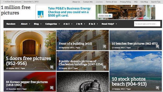 free public domain images websites 1millionfreepictures
