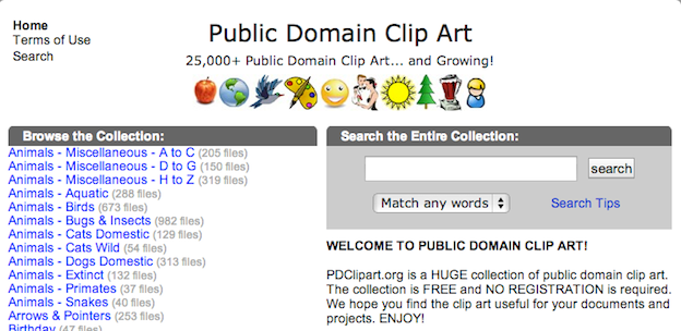 free public domain images websites pdclipart