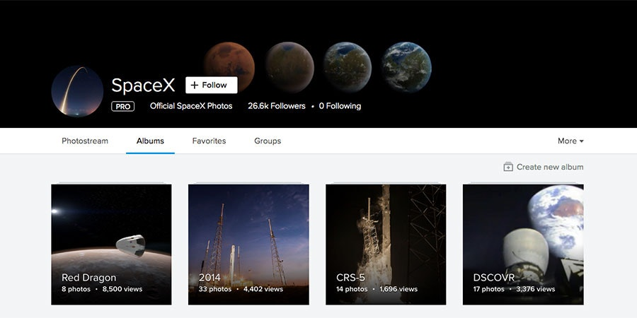 spacex public domain photos