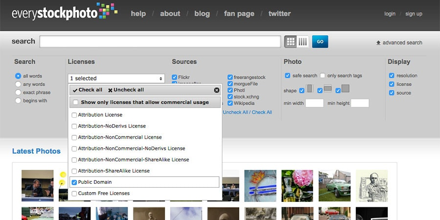 31 free public domain image websites
