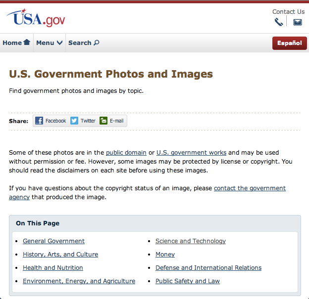 free public domain images websites usa.gov