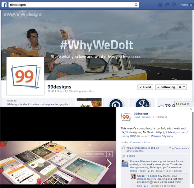 99designs Social Media Page Design Tips
