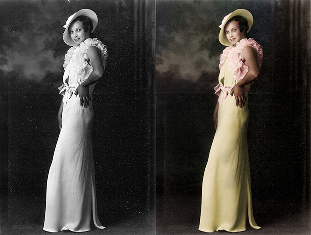 black and white photo colorization