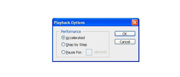 photoshop actions playback options