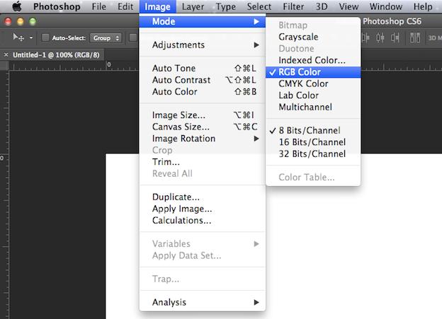 RGB color mode social media page design tips