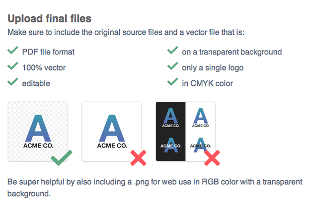 How to create and deliver the correct logo files to your