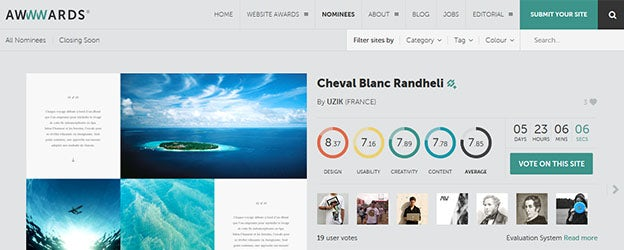 this is the place to find web design inspiration the awards for design creativity and innovation on the internet they feature jaw dropping websites - Blog Inspiration Design