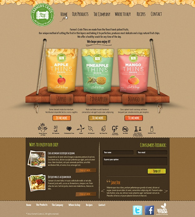 Farmer's Crate web design by Hitron