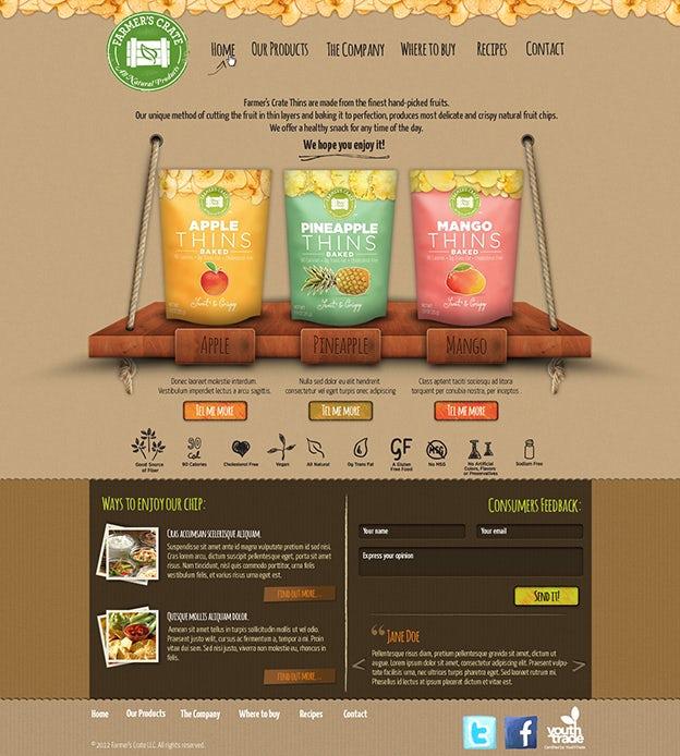 Farmer's Crate web design by Hitron