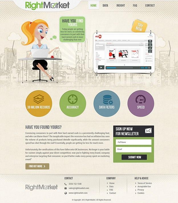 Right market web design by Hitron