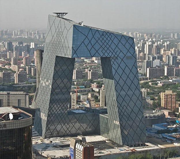 Siège de la télévision centrale de Chine, Beijing (OMA)