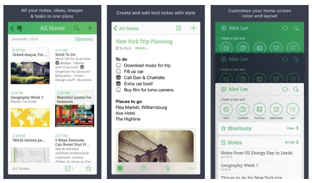 App Design: Evernote