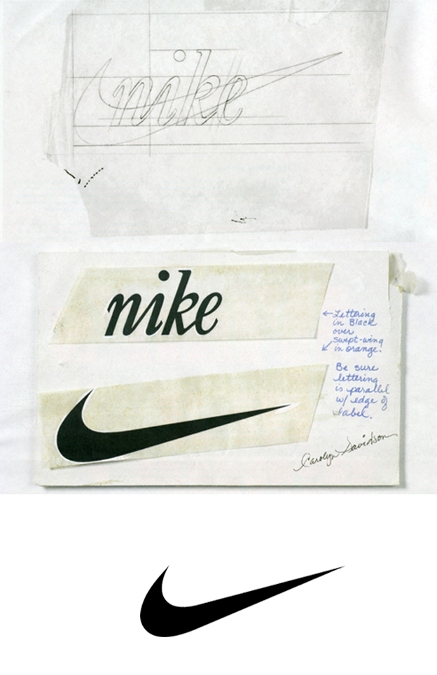 Nike logo process sketch