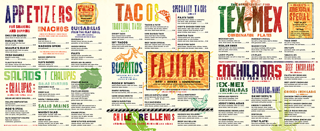 restaurant menu design color choice