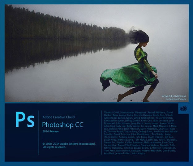 Photoshop CC 2014 splash page
