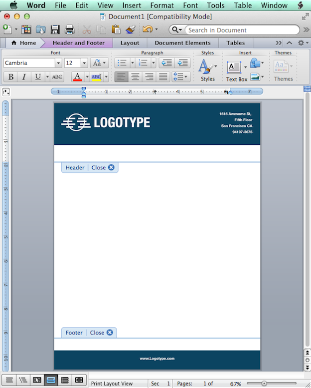 Text editable files: Microsoft Word
