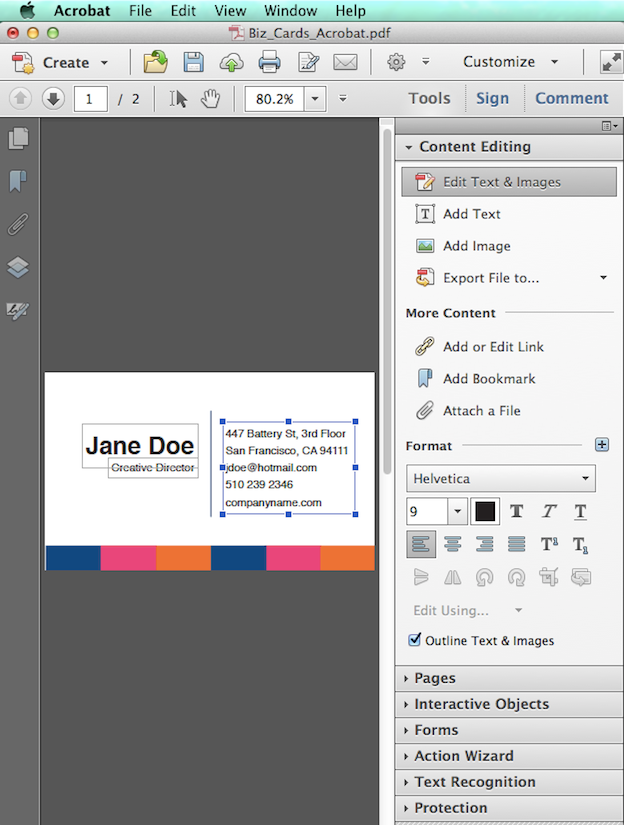Editable Adobe Pdf