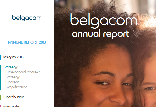 Great navigation menu: Belgacom