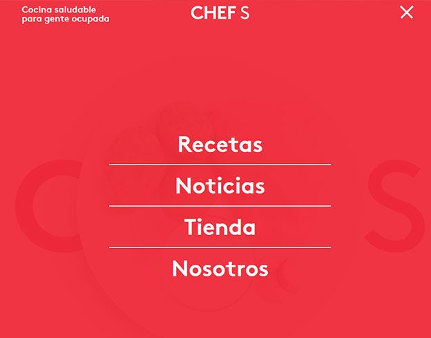 Great navigation menu: CHEF S
