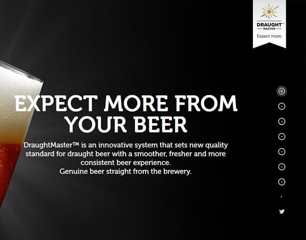 Great navigation menu: Draught Master