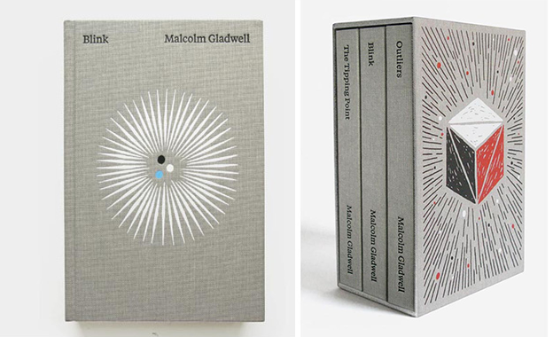 Malcolm Gladwell series by Paul Sahre and Brian Rea