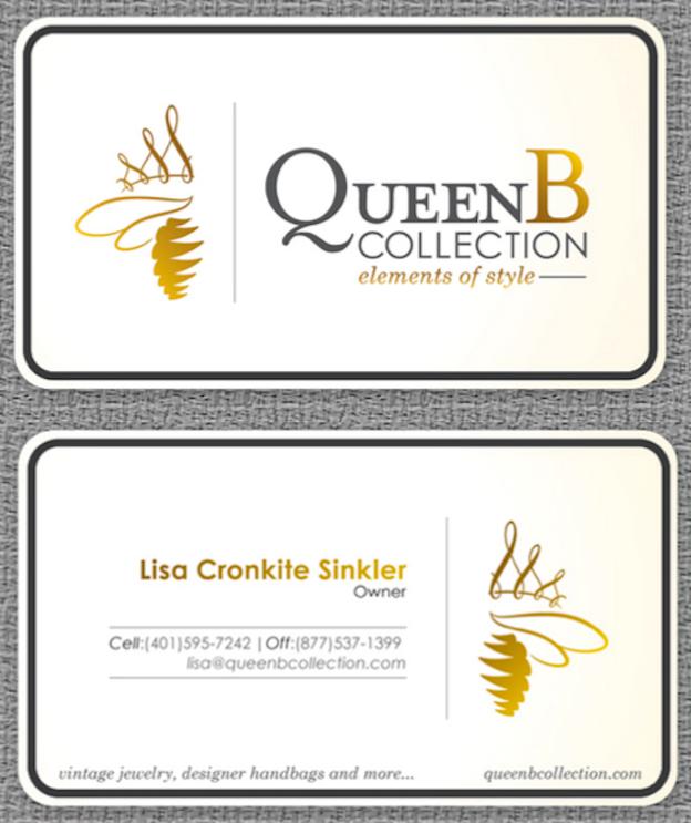 Visitenkarten Design für QueenB Collection