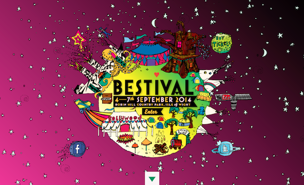 Web design for Bestival