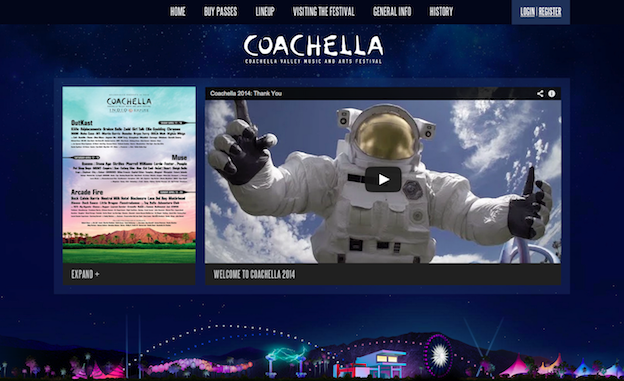 Web design for Coachella