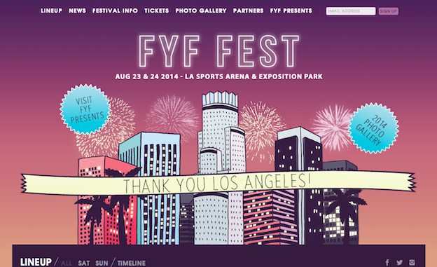 Web design for FYF