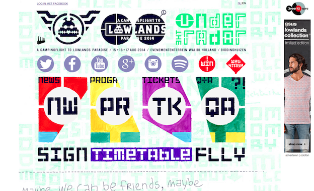 Web design for Lowlands