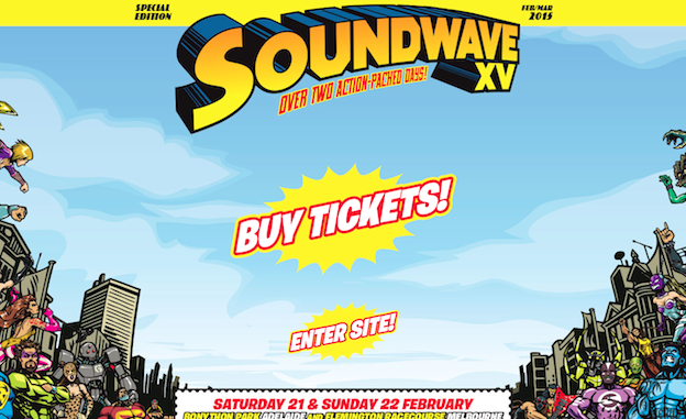 Web design for Soundwave