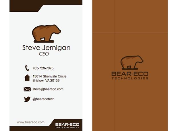 Visitenkarten Design für Bear-Eco